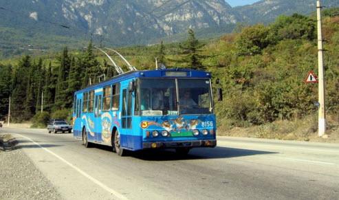 Трасса до Симферополя, троллейбус, как доехать до Симферополя