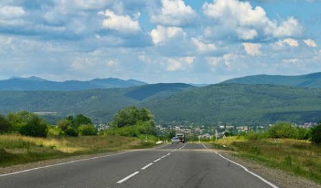 Трасса М-29 «Кавказ»,  от Павловской до  границы с Азербайджаном, через Пятигорск, Грозный , Махачкалу