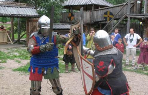 Бой варягов усадьба древних викингов Свенгард