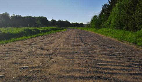 Трасса А 114, плохой участок дороги