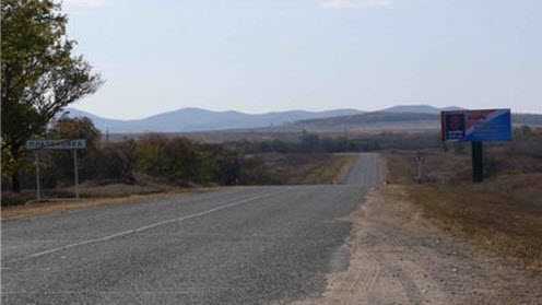 Трасса А182 маршрут Михайловка Турий рог