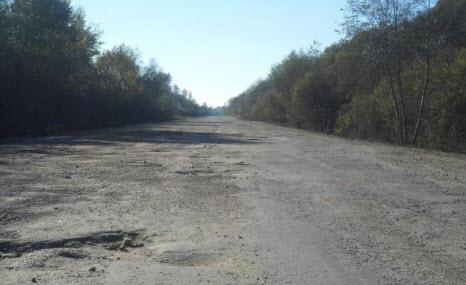 Трасса Р52, маршрут Шимск Феофилова Пустынь в районе поселка Уторгош
