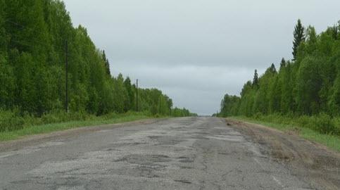 Трасса А119, дорога а119 возле поселка Мураши