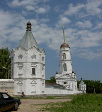 трасса р119 Свято Тихоновский Преображенский монастырь в Задонске