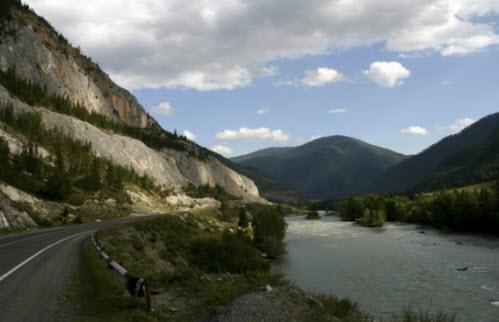 Дорога М 52 Чуйский тракт, горная трасса