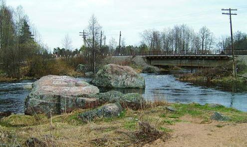 Вид на трассу А127, мост, речка