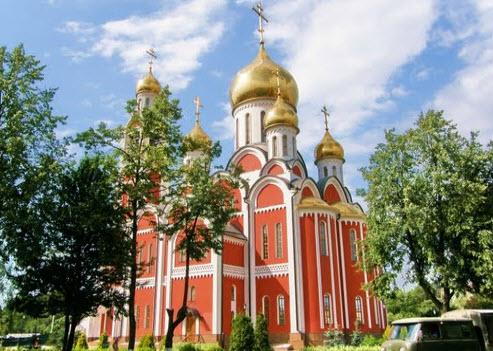 Трасса А100, Храм Георгия Победоносца в Одинцово