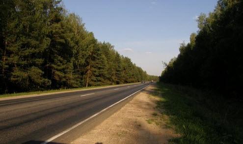 Трасса А107 после Черноголовки