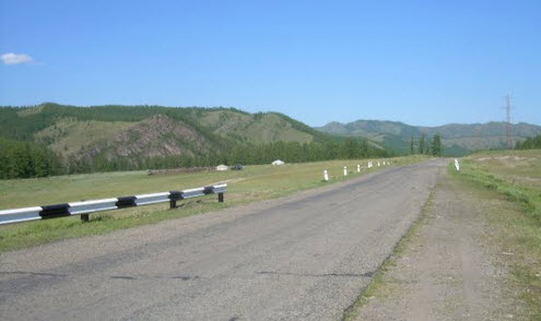 Трасса А163, маршрут Чадан — граница с Монголией