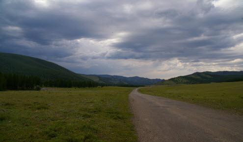 Трасса А-163, маршрут Чадан - граница с Монголией