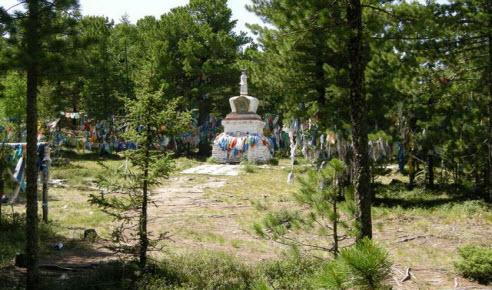 Трасса А-163, перевал Хондергей святое место буддистов