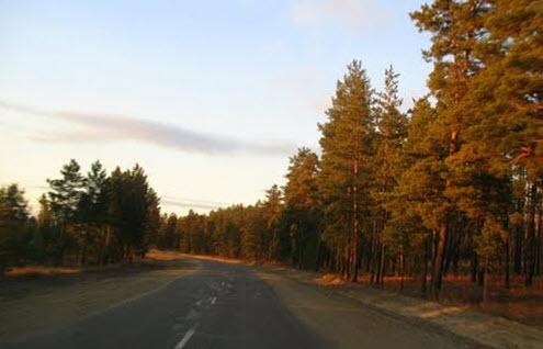 Трасса А165, дорога перед Кяхта