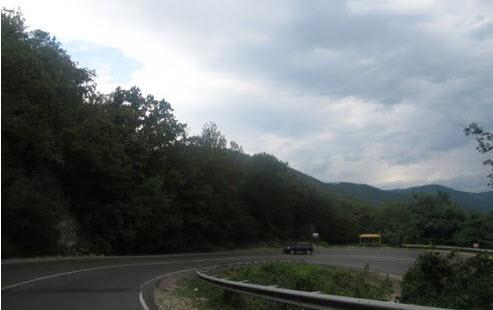 Трасса М27, горный серпантин