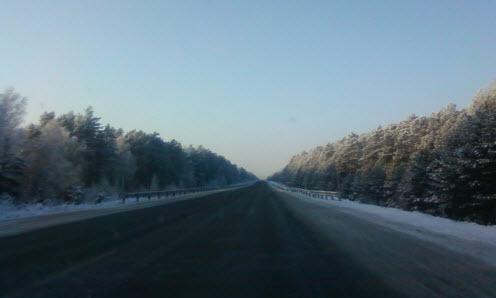 Трасса Томск - Новосибирск
