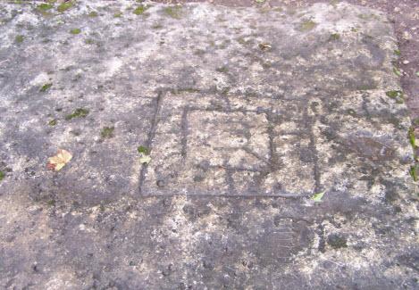 Надпись на камне возле Труворого креста