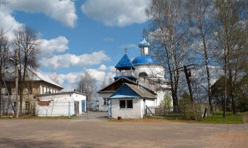 Церковь Успения Богородицы, Марево, трасса Р50