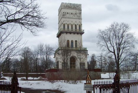 Белая башня павильон, пушкин, трасса М10