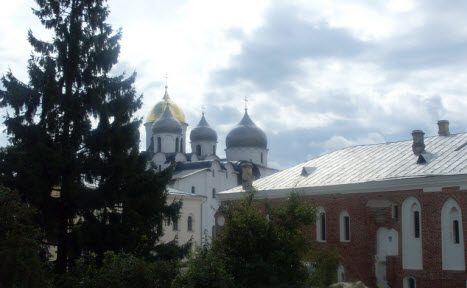 Вид на Софийский собор, Новгород, трасса М10
