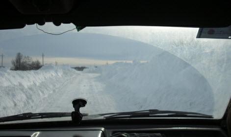 Дорога от Гостилиц до Копорья, зимой