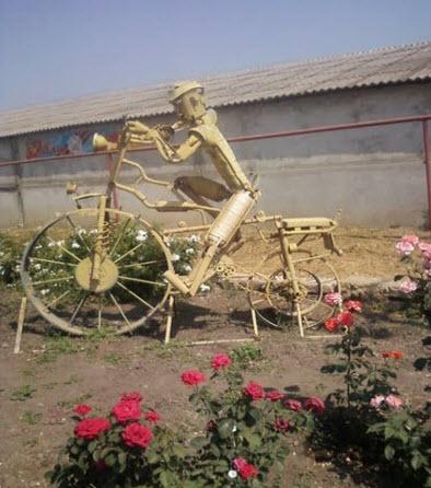 Железный велосипедист, село Преградное трасса Р269
