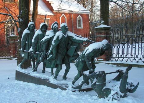 Скульптура Слепцы, достопримечательности трассы М10