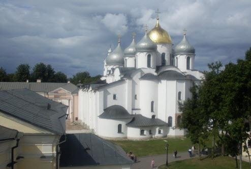 Софийский собор вид с просмотровой площадки, новгород, трасса М10