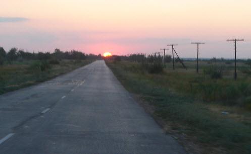 Трасса А153, дорога А153, возле поселка Нариман