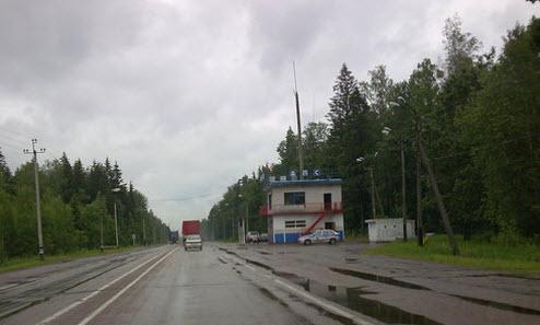 Трасса М3 Украина, пост ГАИ возле Брянска, как доехать до Евпатории