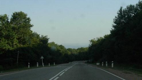 Трасса Р254, возле Апшеронска, дорога Р254
