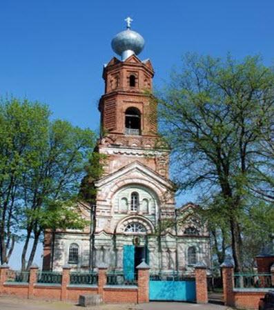 Церковь Михаила Архангела в Ахтырке, трасса Н12, Москва - Ялта
