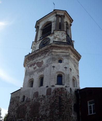 Часовая башня, Выборг, достопримечательности трассы М10