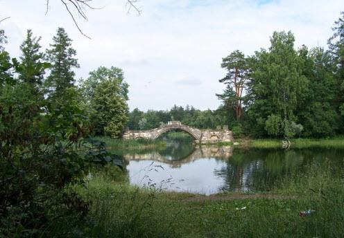 Горбатый мост, Гатчина, трасса М20 Псков
