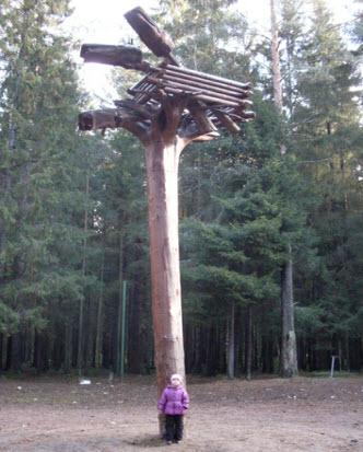Деревянный дракон в гнезде,Токсово, трасса Р33