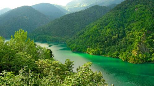Озеро Рица, как доехать до Абхазии