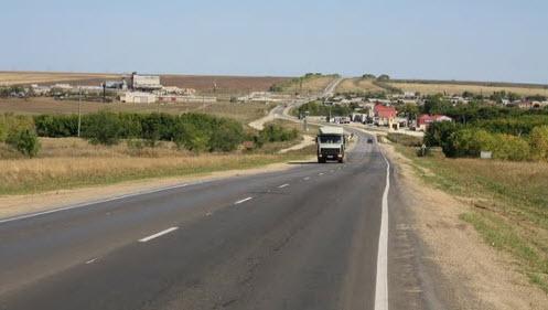 Трасса Р226, дорога Р226, грузовик