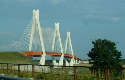 Вантовый мост в Муроме, трасса Р125