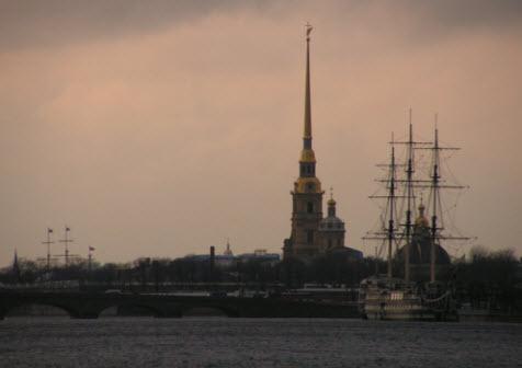Вид на Заячий остров, Петербург