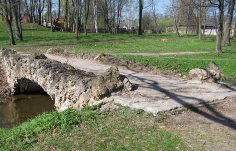 Мост Орловского пруда в Стрельне