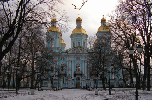 Никольский Богоявленский морской собор с колокольней, Петербург