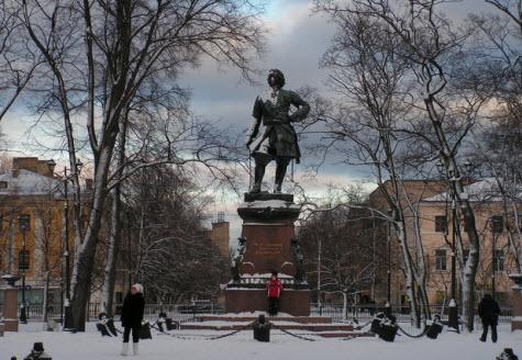 Памятник Петру I, кронштадт