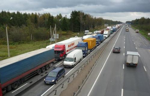 Трасса М10, как доехать до Петербурга, пробка на Московском шоссе