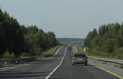 Трасса Р242, после Нытвы