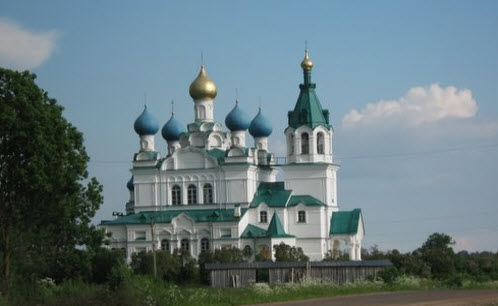 Церковь Дмитрия Солунского в Городне, трасса Р47