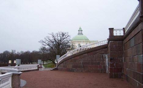 Вид на Большой Меньшиковский дворец, Ораниенбаум
