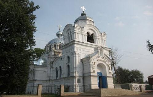 Воскресенская церковь, Бонячки, трасса Р80