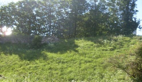 Гдовская крепость, останки достопримечательностей трассы М11