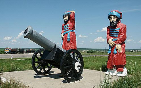 Памятник стрельцам, трасса Р208, въезд в Аткарск