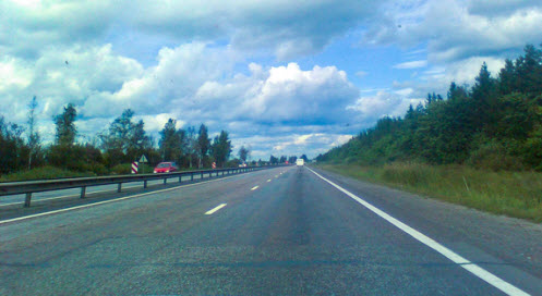 москва - санкт-петербург автодорога: