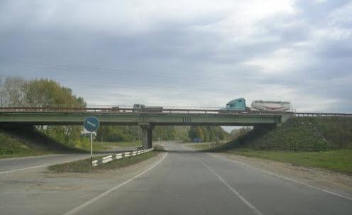 Трасса Р132, михайлов пересечение с трассой М6