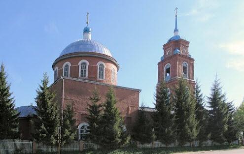 Троицкая церковь, Одоев, трасса Р95